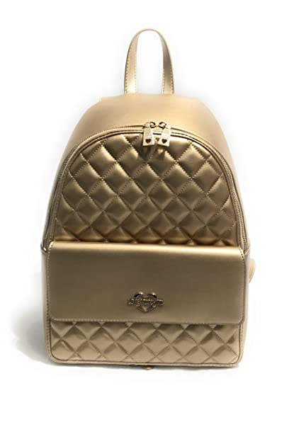 4100efc2da BORSA DONNA LOVE MOSCHINO ZAINO METALLIC PU TRAPUNTATO COL. ORO BS18MO03:  Amazon.it: Abbigliamento