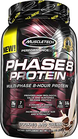Muscletech Performance Series Phase 8 Cookies and Cream - 997 gr
