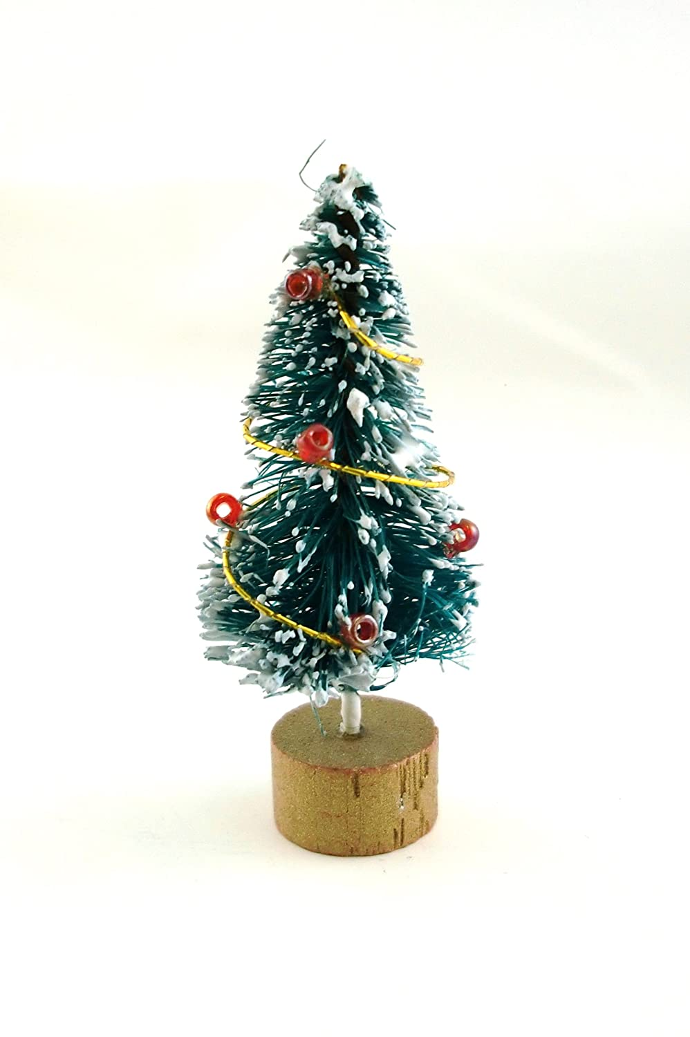 Dolls House Miniature 1:12 Christmas Accessory Decorated Snowy ...