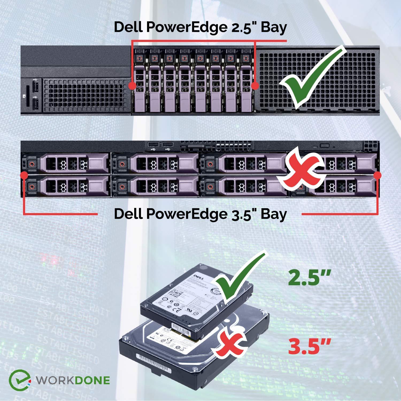 "50PCS 2.5/"" DXD9H SAS//SATA Drive Bay Caddy Tray For Dell PE R440 R740 R540 R6415"