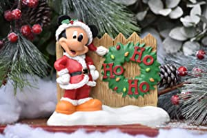 The Galway Company Disney Mickey Mouse Dressed as Santa says Ho, Ho, Ho! Outdoor Garden Statue, Classic Disney Collection, 7 Inches Tall x 6 Inches Wide, Hand-Painted, Official Disney Licensed Produ