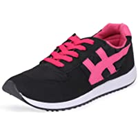 GoldStar Black and Pink Color Sport Shoes for Women