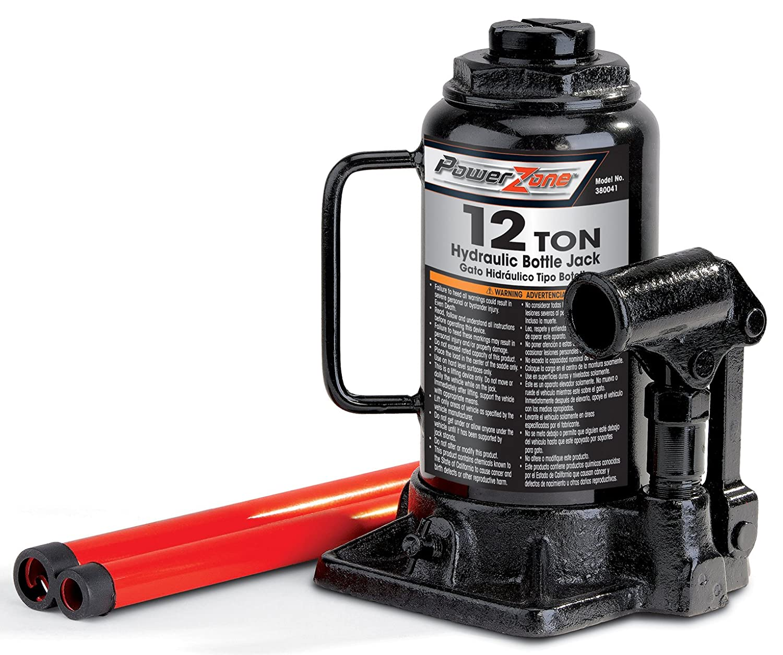 Amazon.com: Milestone Tools Powerzone 380041 12 Ton Steel Bottle Jack: Automotive