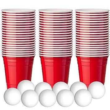 180 Vasos De Plastico Rojo Para Fiestas Mini Vasos Rojos 60ml 10