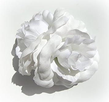 Amazon bright white double rose hair flower clip beauty bright white double rose hair flower clip mightylinksfo