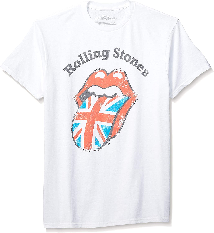 Rolling Stones Men's Classic Tongue UK Short Sleeve Shirt