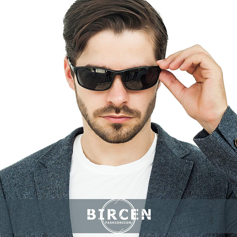 Bircen Polarisierte/Sonnenbrille f/ür/Herren und Damen,Sonnenbrille/Herren mit UV-Schutz Al-Mg Metallrahme Ultra leicht