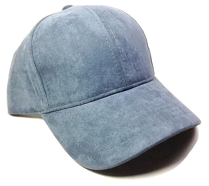 e5d8a5b3a68 Crown Pastel Solid Blank Suede Dad Hat (Dark Grey) at Amazon Men s ...