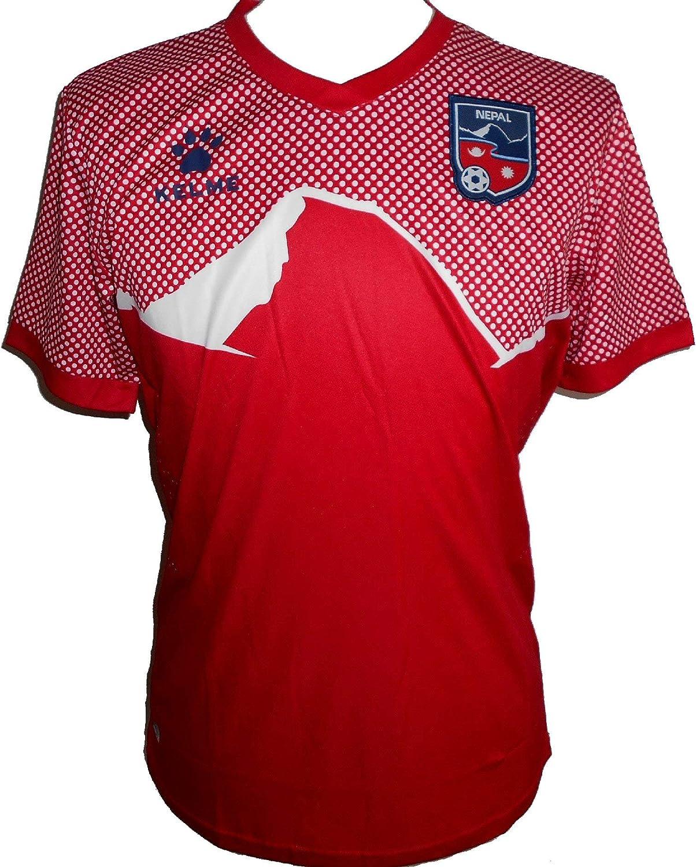 KELME Nepal - Camiseta oficial de fútbol para hombre (2019-2020), XXL, Rojo: Amazon.es: Ropa y accesorios