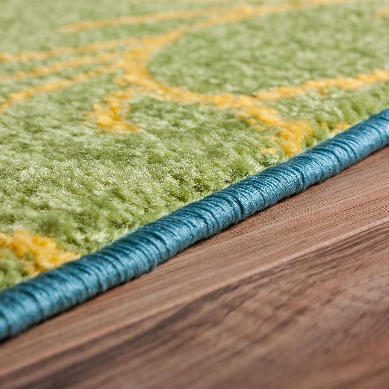 modern rug daisy flowers blue 5 x7 floral accent area