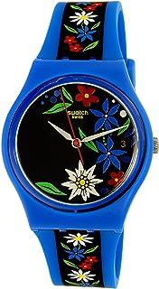 Swatch Womens Edelblau GN412 Blue Rubber Swiss Quartz Watch