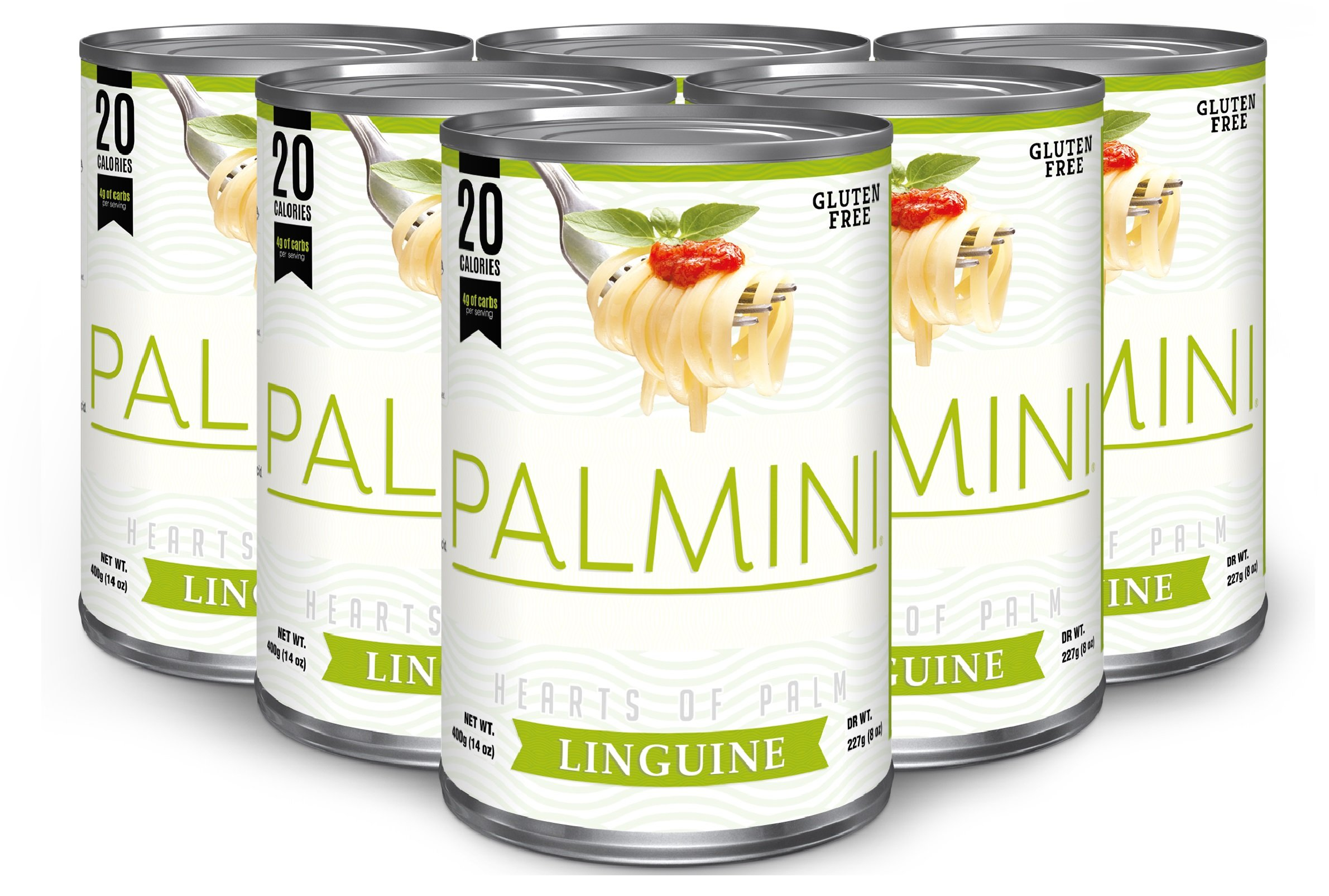 Palmini Low Carb Pasta | 4g of Carbs | As Seen On Shark Tank | 14 Oz. Can (6 Unit Case) by Palmini