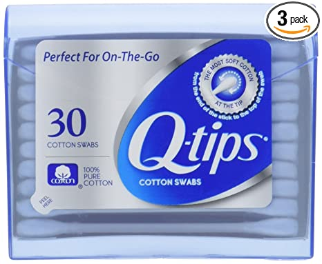 Amazon.com: Q-Tips algodón Swabs Purse Tamaño de viaje Pack ...