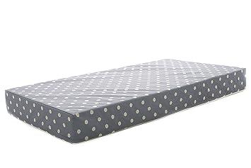 Milliard Colchón de cuna espuma hipoalergénica cuna cama colchón/Junior con cubierta impermeable 140cm x 70cm