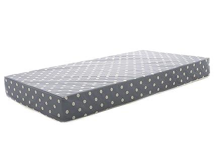 Milliard Colchón de cuna espuma hipoalergénica cuna cama colchón/Junior con cubierta impermeable 120cm x