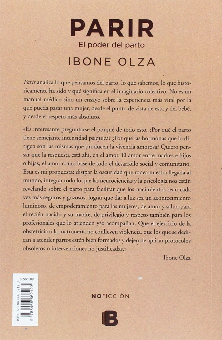 Parir (NO FICCIÓN): Amazon.es: Ibone Olza: Libros