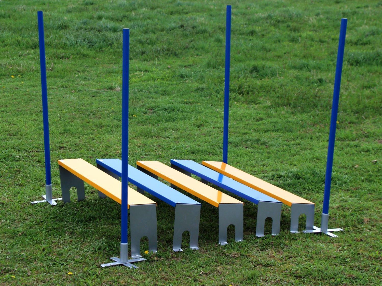 Agility Weitsprung für Hundesport (5teilig), orig. Callieway® Long Jump (NEU - inkl. Eckpfosten)