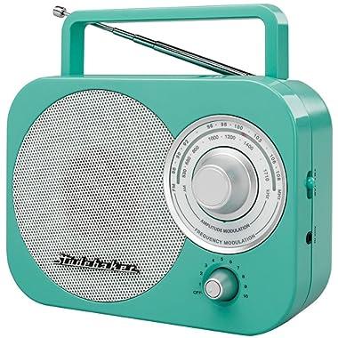 Portable Am Fm Radio, Teal Studebaker Small Player Speaker Portable Am-fm Radio