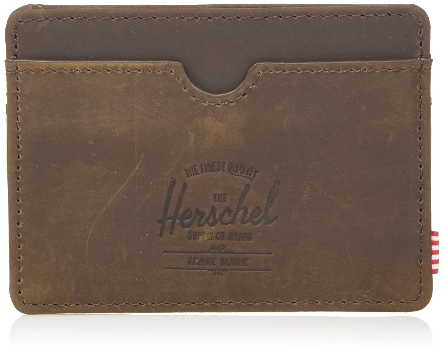 Herschel Credit Card Holder Charlie Leather 3cc RFID Herschel Accessories Cuir I 10360-02233-OS
