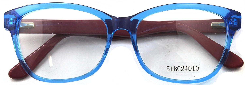 8162159076 Amazon.com  Carmim Men Acetate Eyeglasses Clear Lens Eyewear Frame  51BG24010 (Crystal Blue