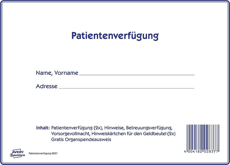 RNK  2895 Patientenverfügung mit Betreuungsverfügung Vorsorgevollmacht