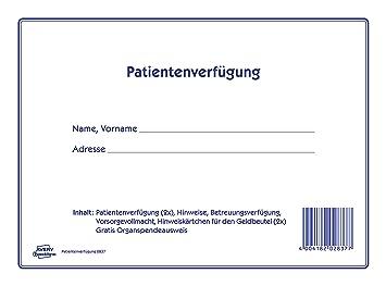 avery zweckform 2837 patientenverfgung 220 x 163 mm 1 stck wei - Patientenverfugung Beispiel