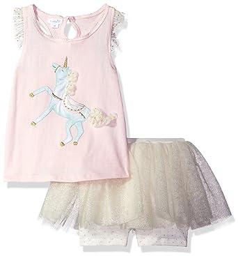 a35837c9651686 Mud Pie Baby Girls' Toddler Two Piece Pants Set Sleeveless, Unicorn, ...