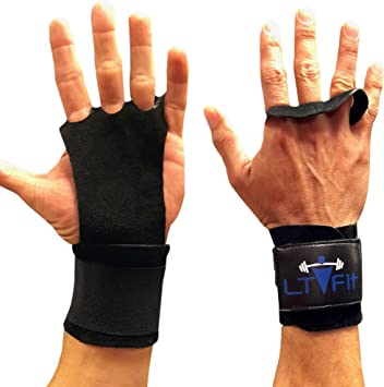 3 Hole Hand Grips Athletic Crossfit Black Leather Palm Protecter Training WOD