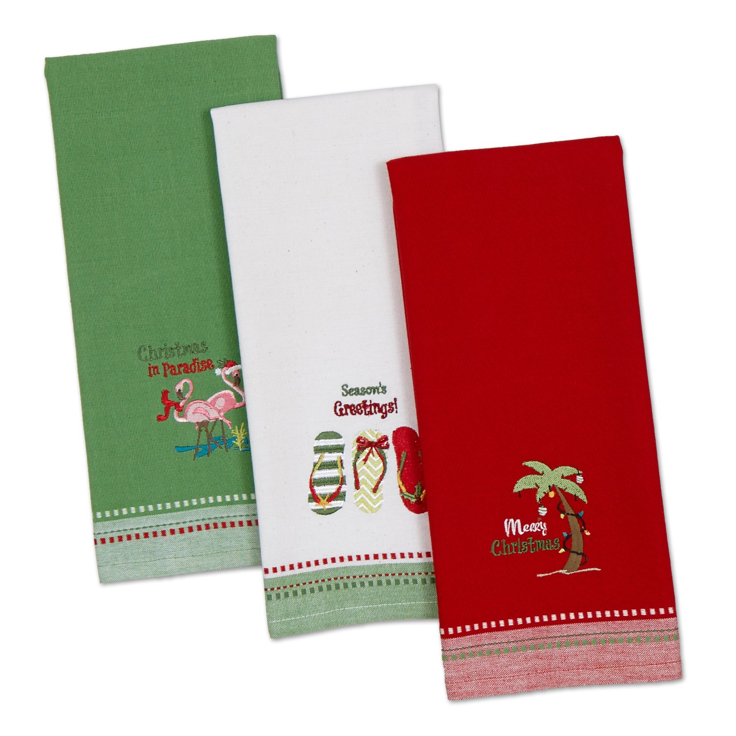 DII Cotton Thanksgiving Fall Holiday Decorative Dish Towels, 18x28, Set of 4-Fall Gather CAMZ10348
