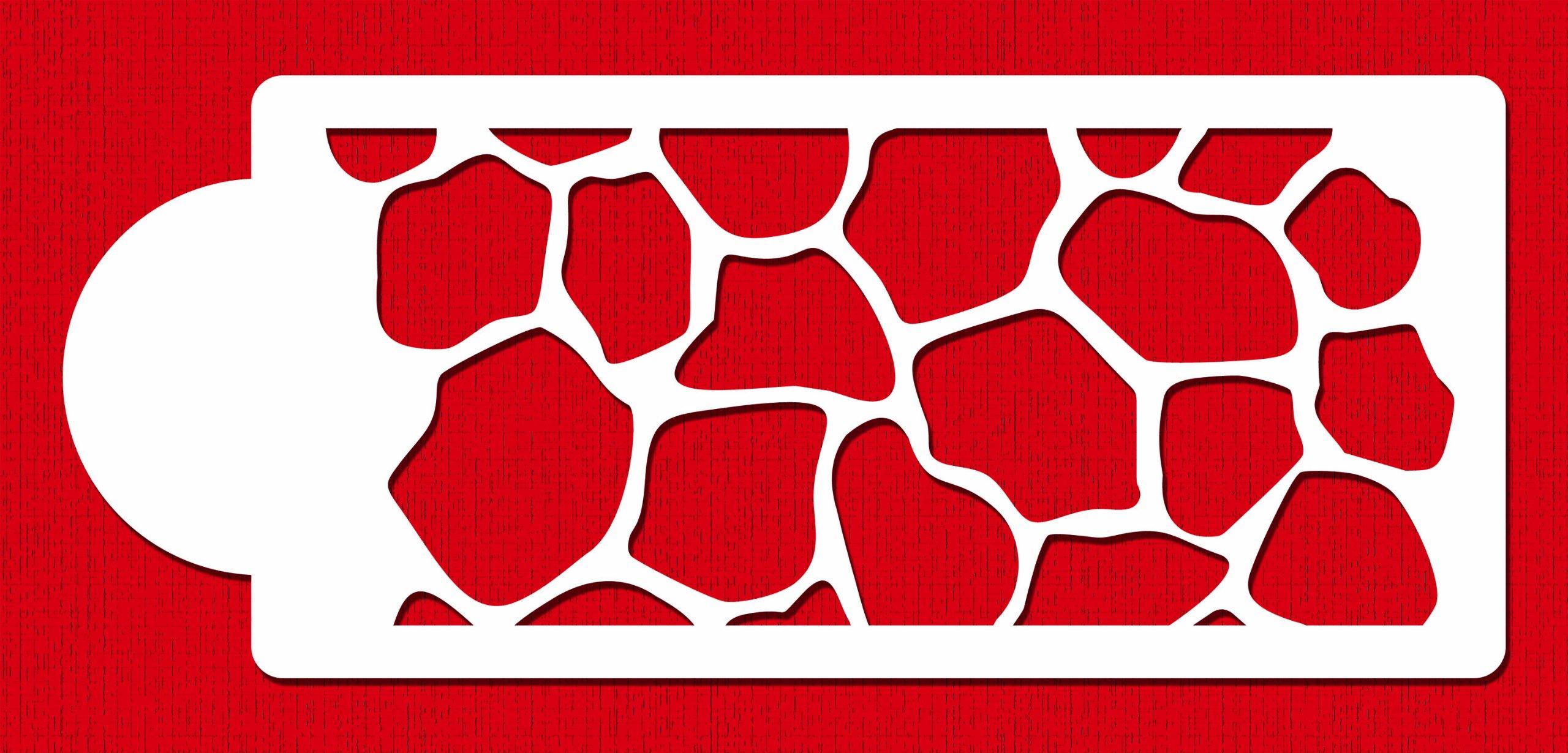 Designer Stencils C483 Giraffe Skin Side Cake Stencil, 4-Inch, Beige/Semi-Transparent