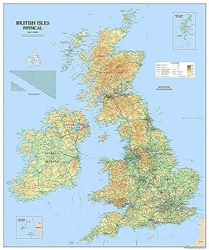 Giant British Isles Map - Mounted 3mm PVC (150 x 180 cm / 1.5 x 1.8 ...
