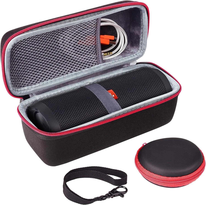 Outside Black and Inside Black Travel Carrying Storage Protective Bag XANAD Hard Case for JBL FLIP 5 Speaker