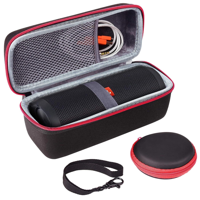 Travel Hard Case for JBL Flip 3 Flip 4 Bluetooth Speaker by SKYNEW, Light Grey