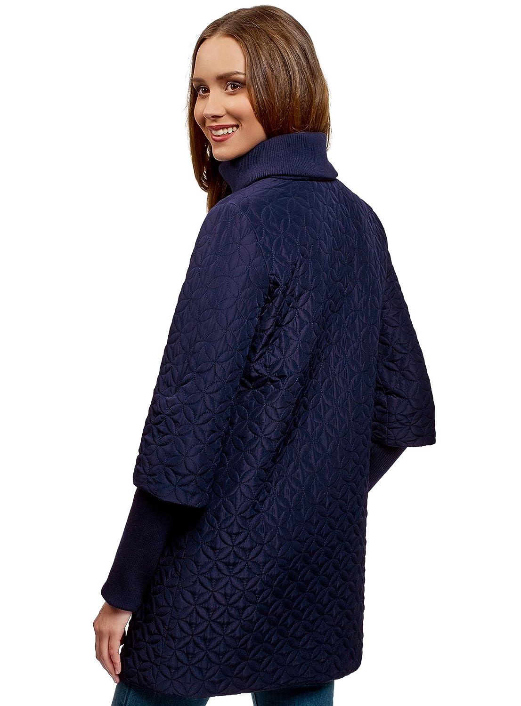 oodji Collection Mujer Abrigo Acolchado con Cuello Mao, Azul, ES 46 / XXL: Amazon.es: Ropa y accesorios