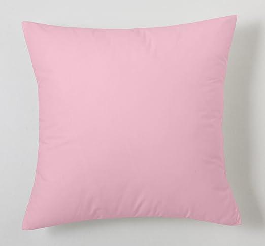 ESTELA - Funda de cojín Combi Lisos Color Rosa - Medidas 40x40 cm ...