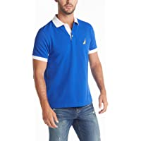 NAUTICA Men's Classic Fit Short Sleeve Performance Pique Polo Shirt