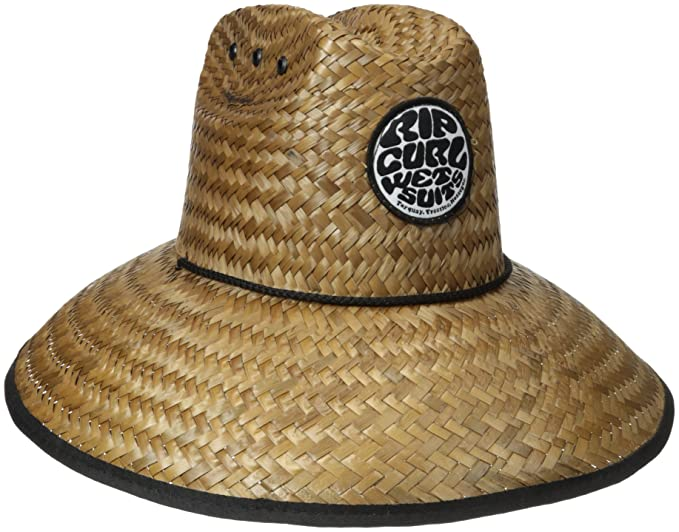 497d1e38 Rip Curl Men's Baywatch Straw Hat, Natural, One Size: Amazon.ca ...