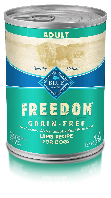 bluee Buffalo Freedom Adult Dog Lamb Dinner Grain Free 12.5 oz