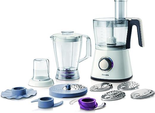 Philips Viva Collection HR7761 - Robot de cocina (Negro, Color blanco, 21 cm, 21 cm, 36,8 cm, 50/60 Hz, Acero inoxidable): Amazon.es: Hogar