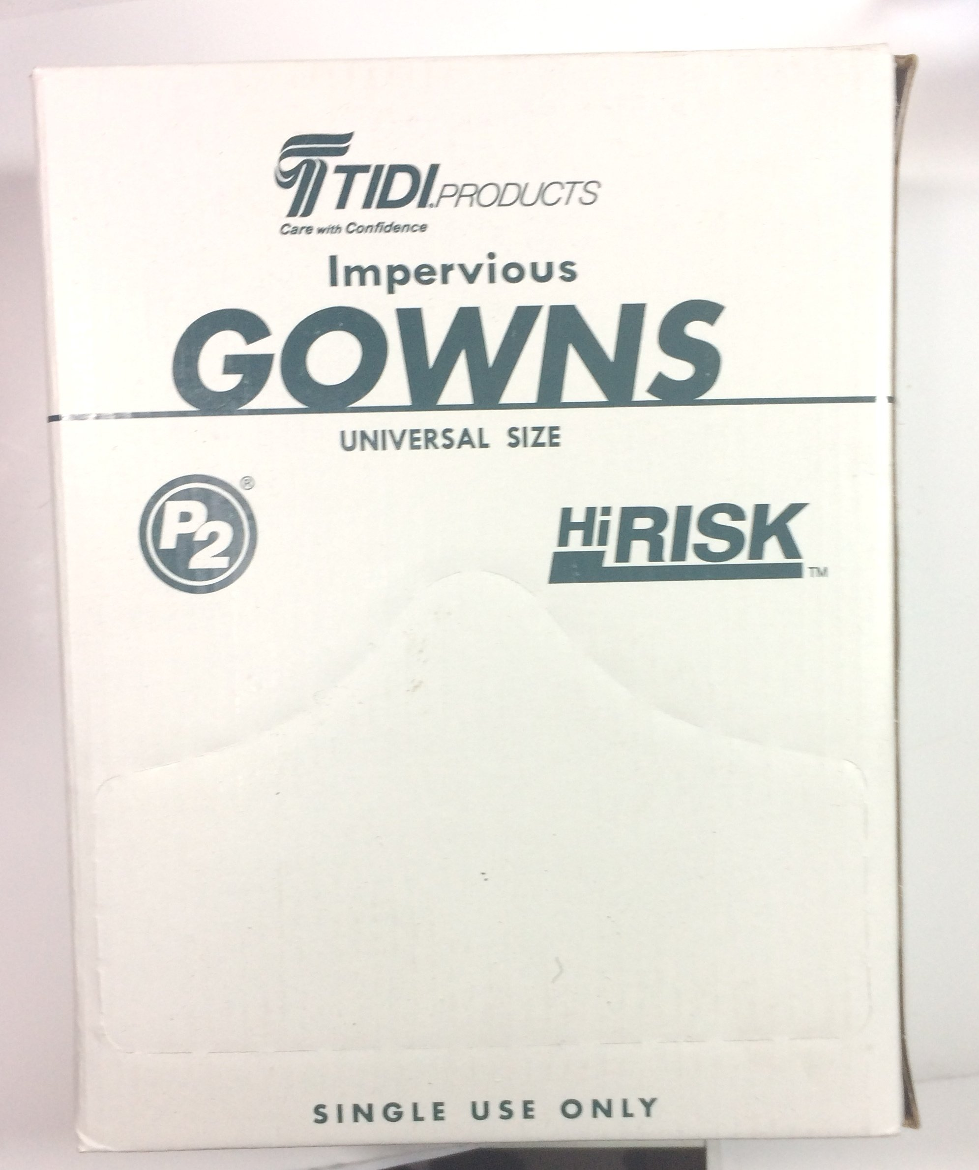 TIDI Products 8576  HiRisk Impervious Gown, Light Blue (Pack of 75)