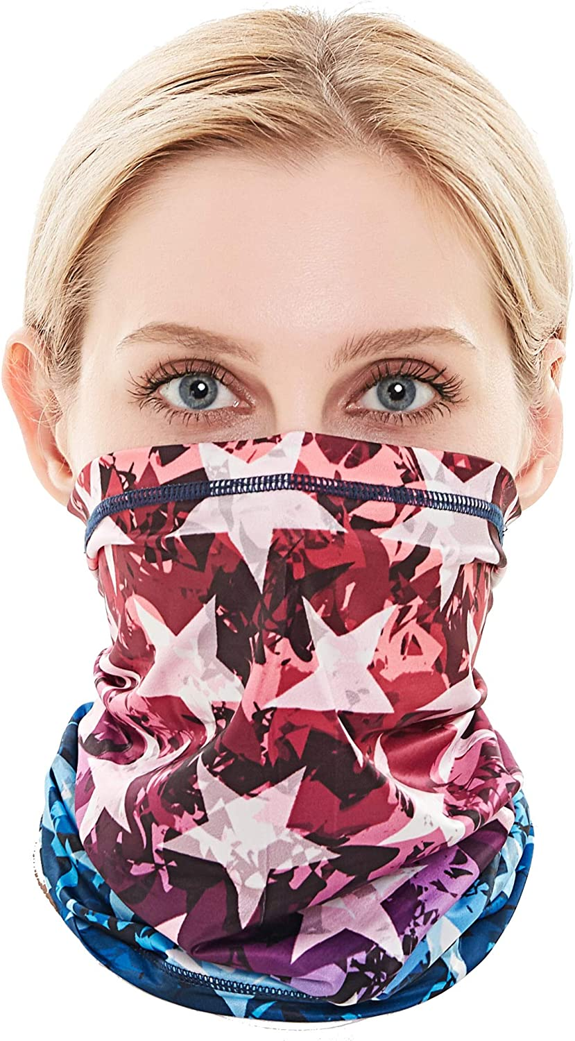 Neck Gaiter Face Cover Scarf Gator Face Mask for Cold Wind Dust - Reusable Balaclava Bandana for Men Women - 12 Ways to Wear