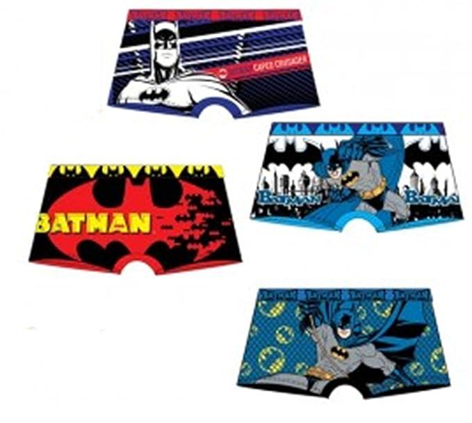 Pack 4 Boxers Diseño Batman (Warner Bros) 4 Modelos Diferentes (95% Algodon
