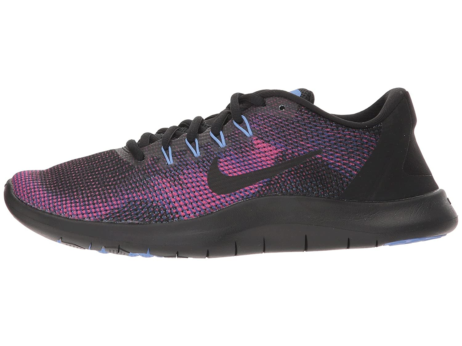more photos 4ff69 ff5d5 Amazon.com   Nike Women s Flex RN 2018 Running Shoe Black Royal Pulse Deep  Royal Blue Size 8 M US   Road Running