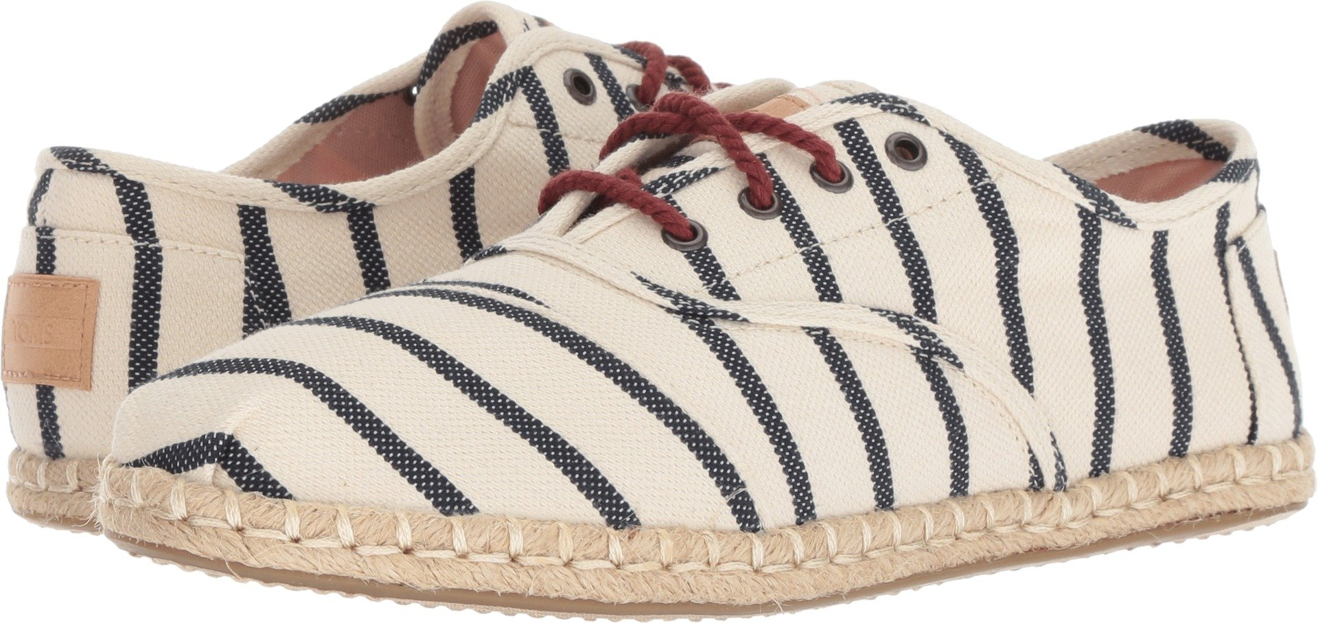 TOMS Women's Cordones Natural Stripe Woven 7 B US