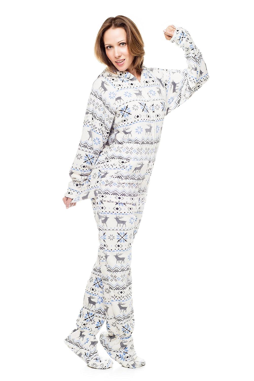 737656170 Amazon.com  Christmas Kajamaz  Adult Onesie Pajamas  Clothing