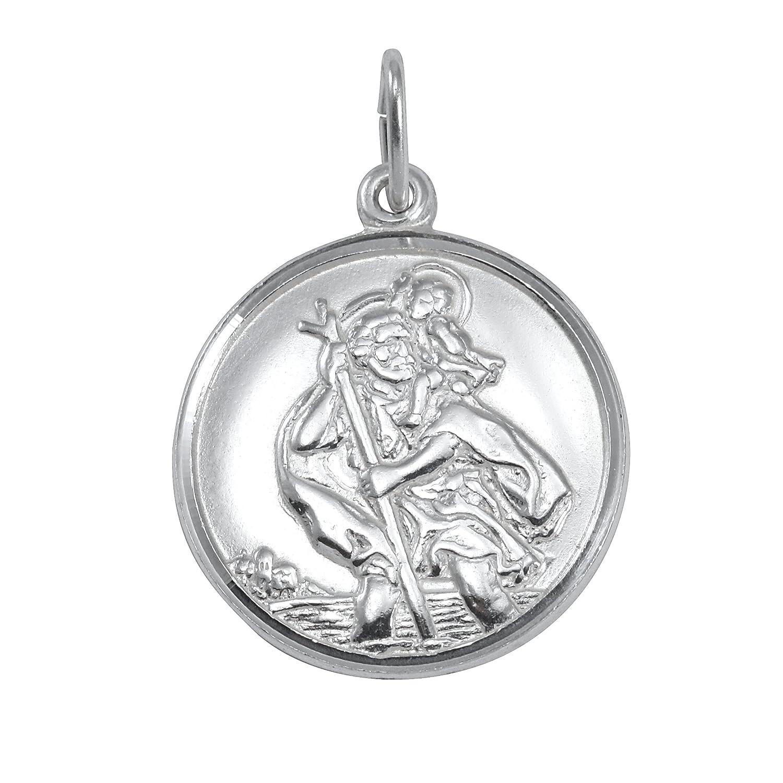 Pendentif Médaille de Saint-Christophe en Argent 925/1000 Sayers London S20P-PLN-DC