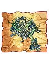 Prettystern - 90cm foulard de soie pure soie Impressionnisme Art Print peinture tissu - van Gogh - de nombreux motifs