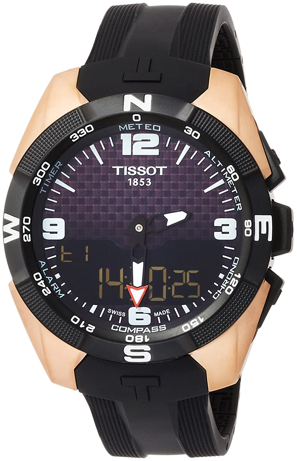 Tissot T-Touch Black Dial Silicone Strap Mens Watch T0914204720700