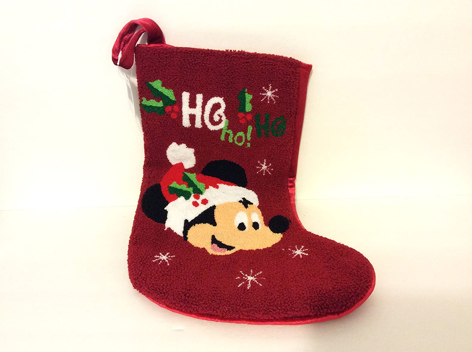 Disney Parks Exclusive Mickey Mouse Ho Ho Ho! Christmas Holiday Stocking