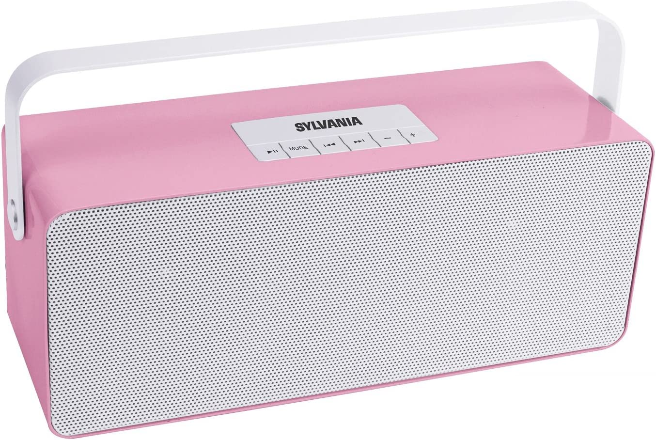 Sylvania SP672 Portable Bluetooth Speaker with Aluminium Handle Pink